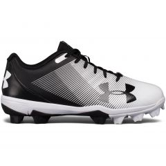 UA Leadoff Low RM Jr Black/White Size 1