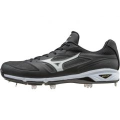 Mizuno Dominant IC Low Black/White Metal Cleat