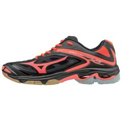 Mizuno Women's Wave Lightning Z3 Shoes- Black-Fiery Coral sz 7