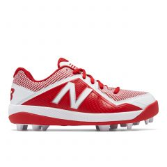 New Balance 4040v4 Youth Cleat Red/White 2.5W