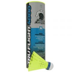 Black Knight Truflight 4000 - Tube Of 6 - Yellow - Badminton