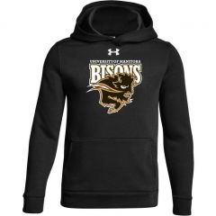U of M Bison Logo UA Youth Hustle Fleece Hoody