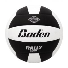 Baden Official RallyTM Soft Touch Volleyballl - Black/White - Clearance