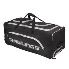 Rawlings YADIWCB Wheeled Catchers Bag-Black