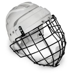 Mylec Jr. Helmet With Wire Face Cage - White