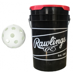 "Home Run Sports Bucket & 3 dz  9"" Whiffle Ball Combo"