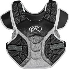 """Rawlings Velo Softball Chest Protector 14"""" BLK/WHT"""