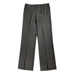 Smitty Charcoal Grey Pleated Plate Pants w/ Expander Waist