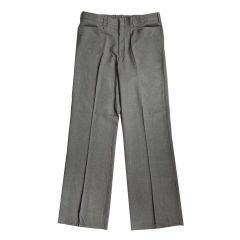 Smitty Flat Front Heather Grey Plate Pant