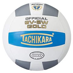 Tachikara Gold Official Game Volleyball (College Blue/White/Silver)
