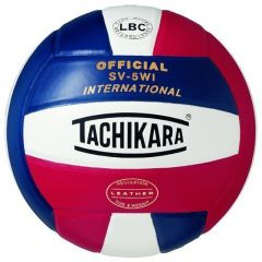 Tachikara International Game Volleyball-red/white/navy - Clearance