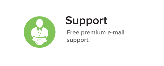 Support Free premium e-mail support.